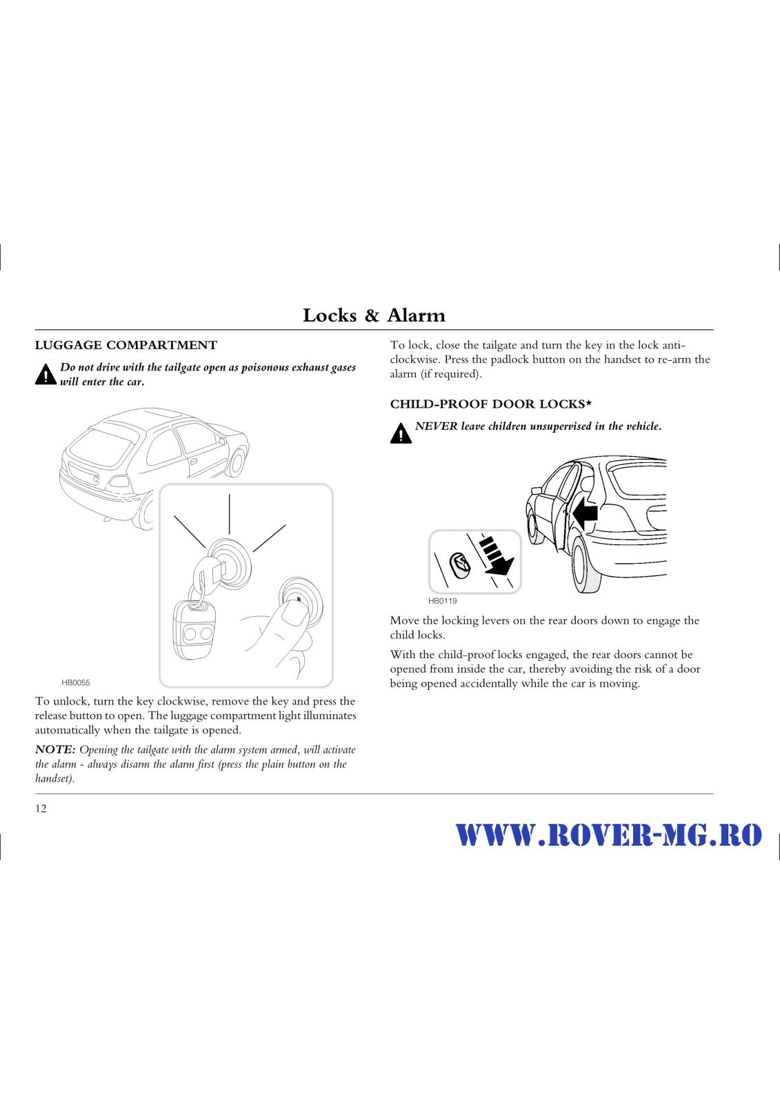 Index Of Forum 1documentatii Rovermg Rover 25 Handbook Files Res Luggage Security Alarm Schematic Page0012 I2