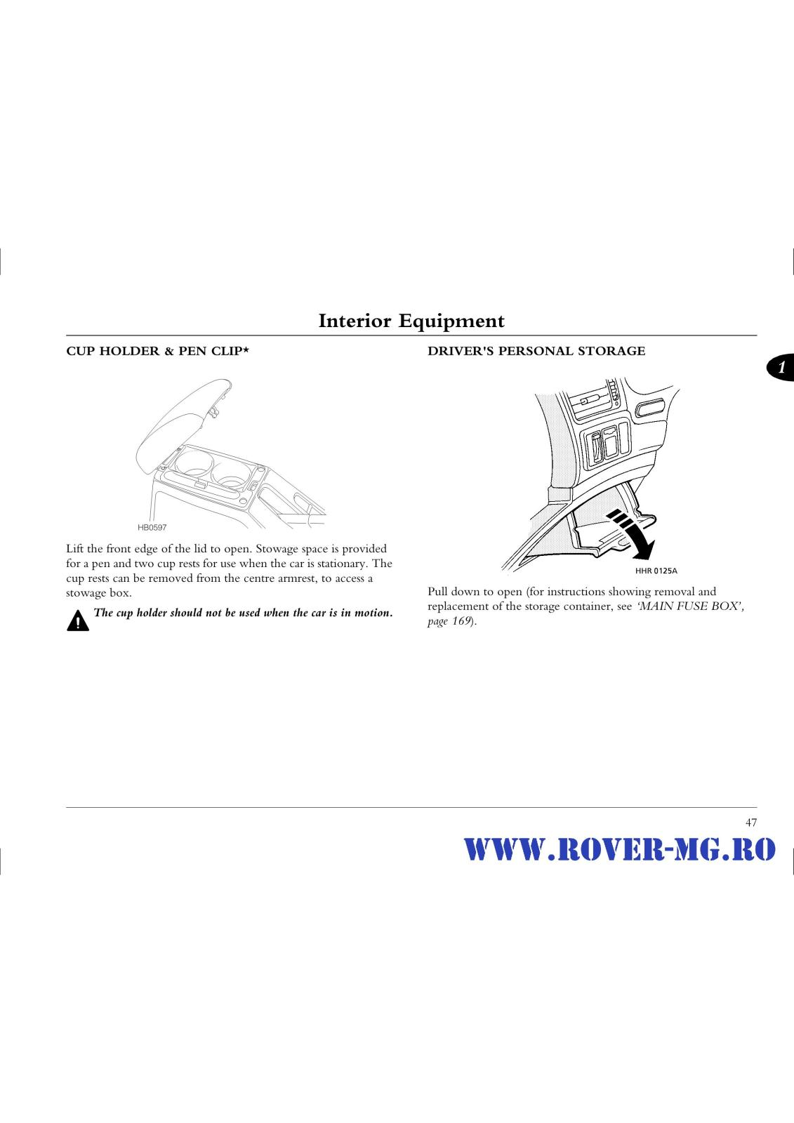 Index Of Forum 1documentatii Rovermg Rover 45 Handbook Files Res Fascia Main Fuse Box Diagram Page0047 I2