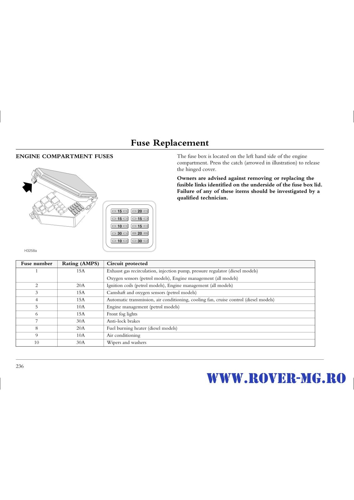 Index Of Forum 1documentatii Rovermg Rover 75 Handbook 2 Files Res Cruise Control Wiring Diagram Page0236 I2